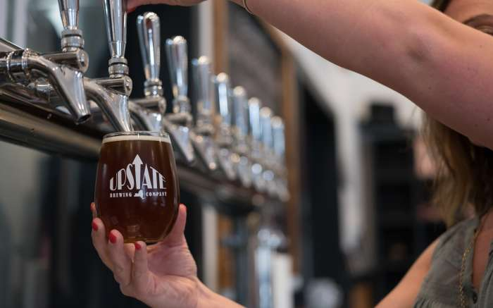 Upstate Brewery tap line