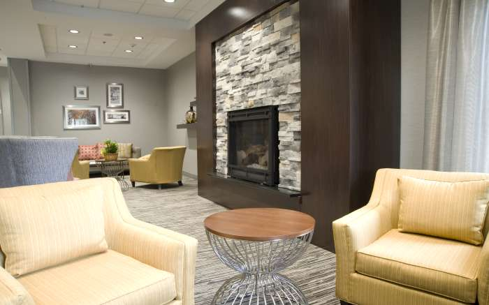 Lobby Seating And Fire Place