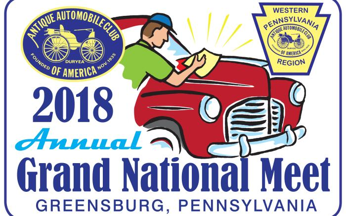 AACA Western PA Region Grand National 2018 logo