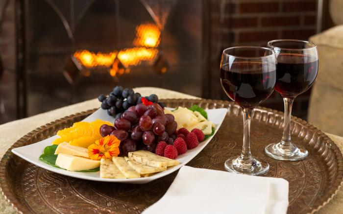 Order a cheese tray and stay in for a romantic evening