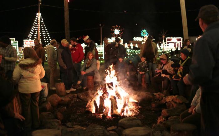 At the Bonfire