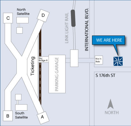 Seattle Southside Visitor Center map