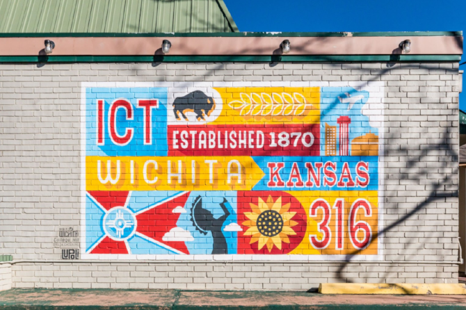 "Wichita 316 Mural ""WICHITA"" sponsored by Visit Wichita"