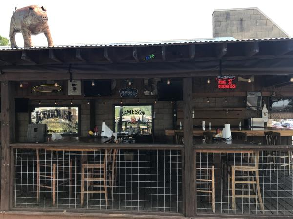 The patio of Blind Pig Tavern.