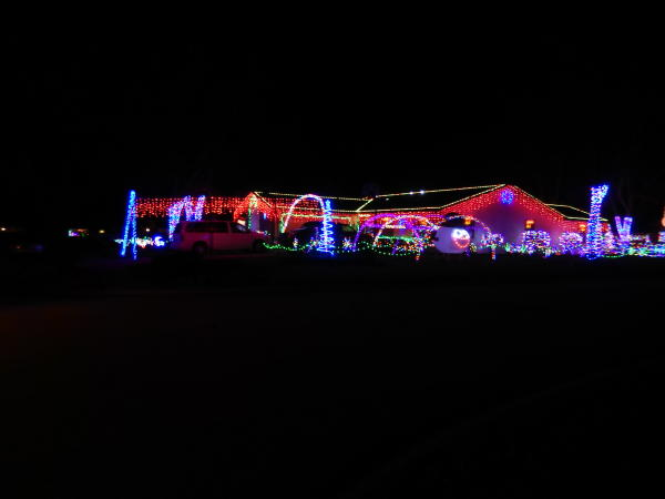 Chancery Place Christmas Lights Display - Fort Wayne, IN