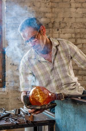 River Arts District Glass Blower
