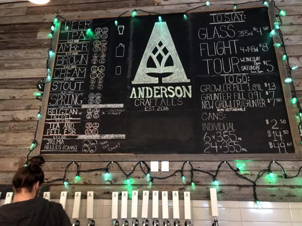 Anderson Ales storefront