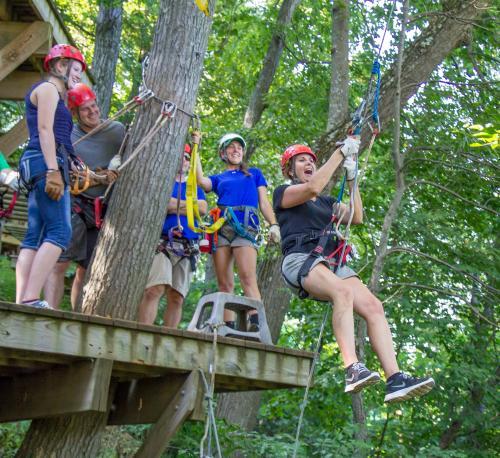 Ziplining at Roundtop Mountain Resort