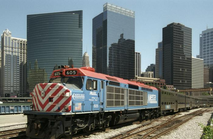 Chicago Metra Trains