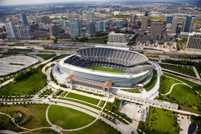 Chicago Bears: Soldier Field Aerial View