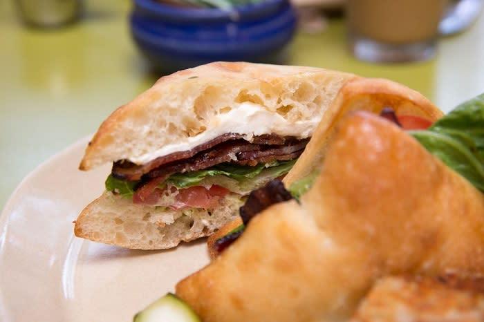 Snooze's Bacon sandwich