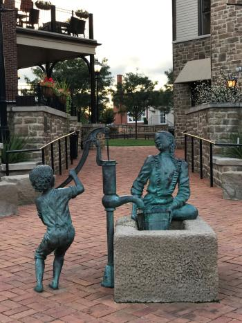 Daily Chores Public Art in BriHigh Square