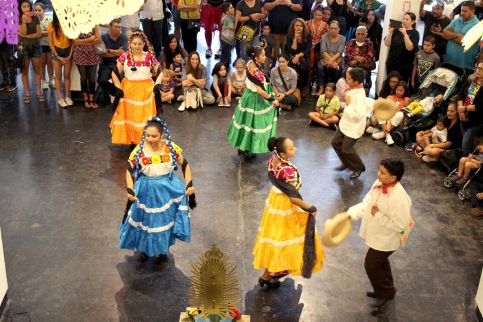 Dancing at Lawndale Art Center in Houston