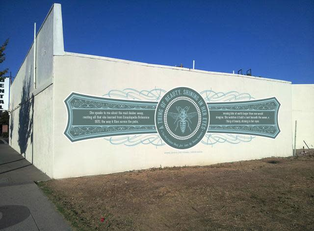 One of the murals to be revealed at t the Del Paso Words & Walls Dedication Celebration. (Courtesy of the Sacramento Metropolitan Arts Commission)