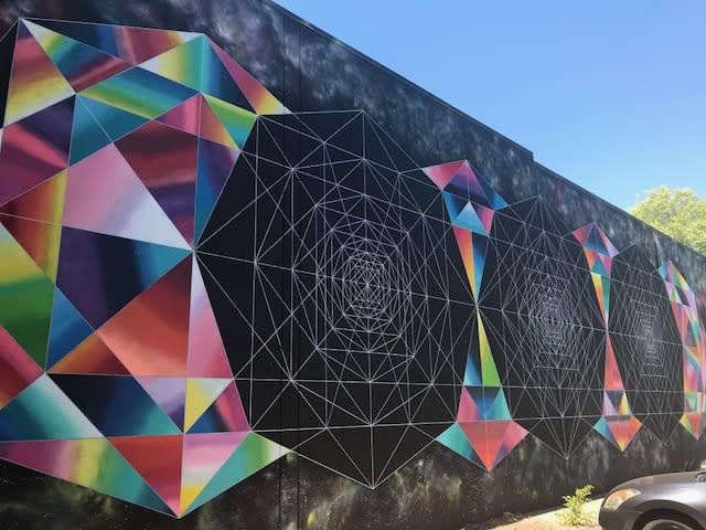 Beatnik Studios Parking Lot Mural