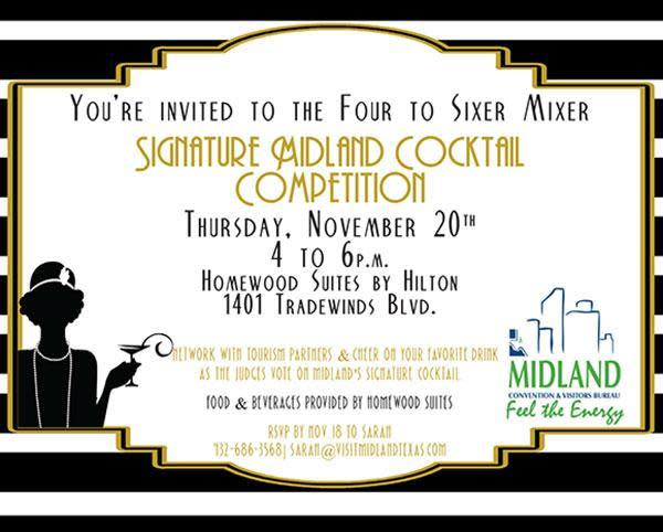 Cocktail Competition informational flyer