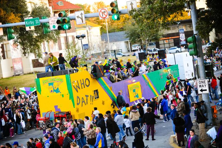 Who Dat Childrens Parade Southwest Louisiana Mardi Gras