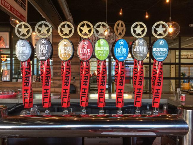 Taps at Starr Hill Brewery