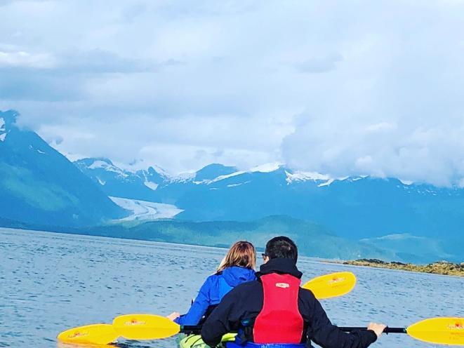 Kayaking around Auke Bay