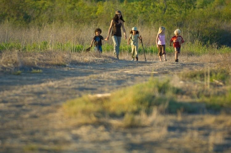 Family Hiking at Irvine Ranch Natural Landmarks