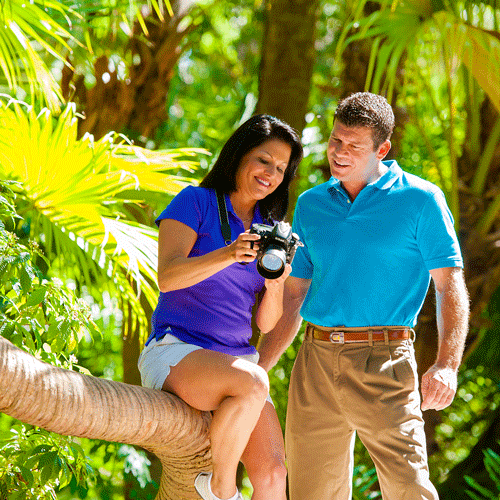 Couple in nature on the Space Coast