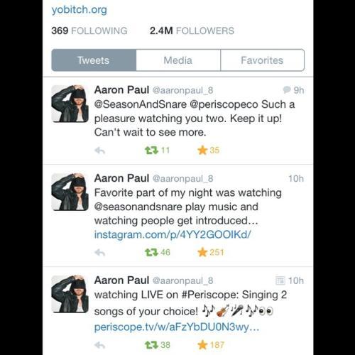 Aaron Paul on Twitter