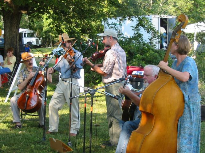 Musicians performing at OC 250th celebration
