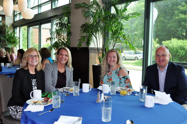 Table with Darryl Leggieri and other attendees