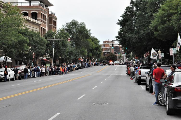 Street view prior to parade