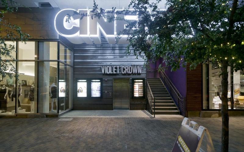 Violet Crown Exterior at night