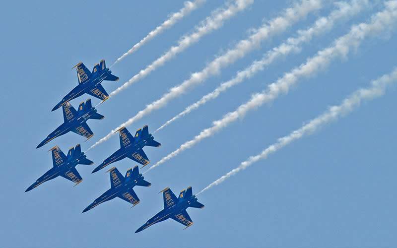 Blue Angels flying high
