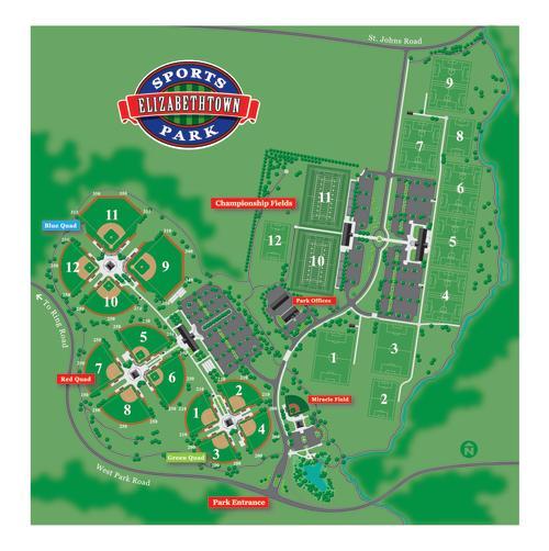 Elizabethtown Sports Park Map