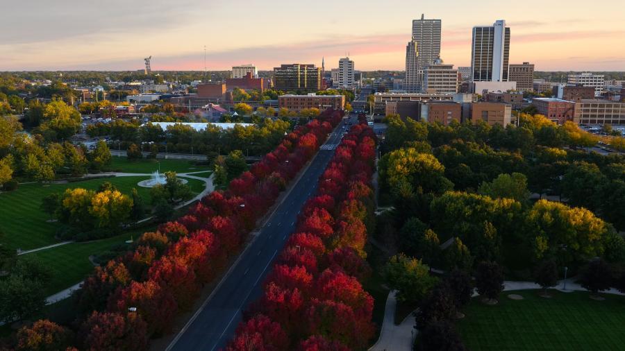 Downtown Fort Wayne Skyline - Fall