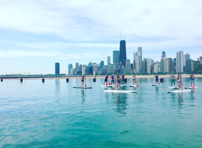 SUP paddle boarding