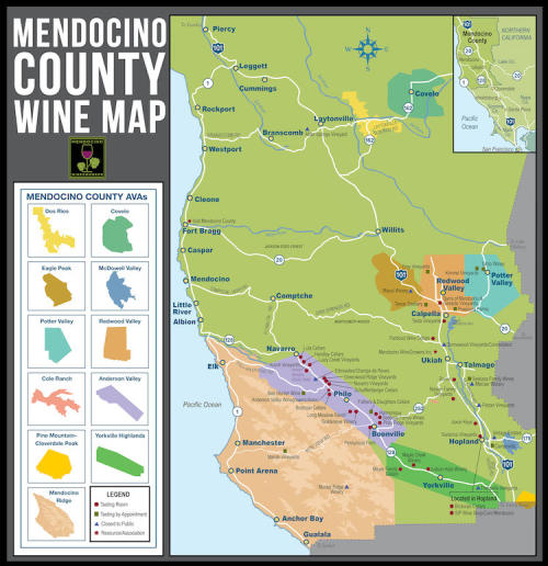 North Coast California Wine Map