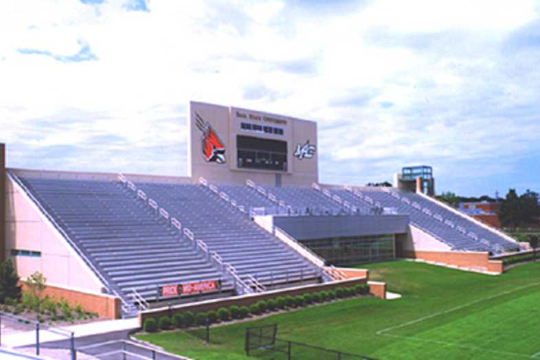 Football Bleachers - Ball State University