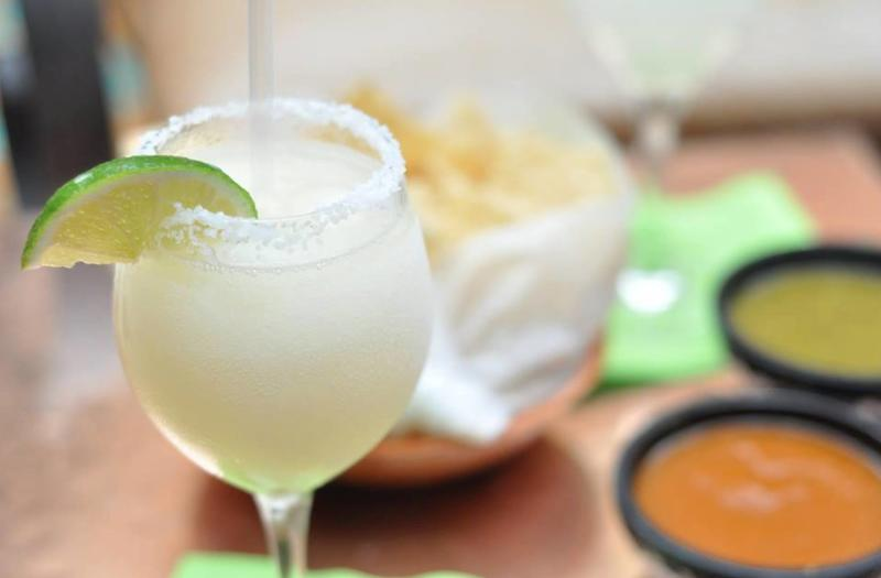 Margarita and chips and salsa from Fonda San Miguel in Austin Texas