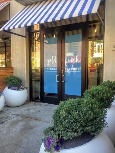 Goldfinch Restaurant Downtown Des Moines front doors