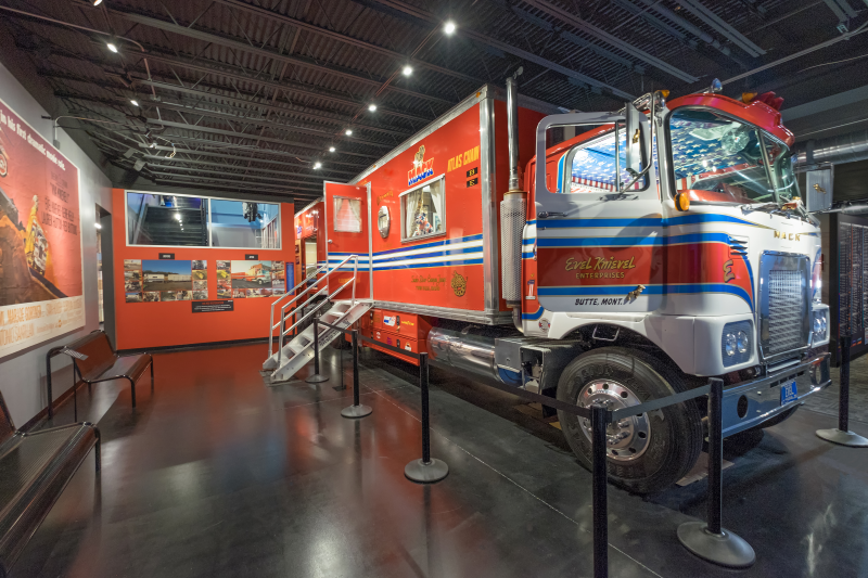 Evel Knievel's Mack Truck and Trailors