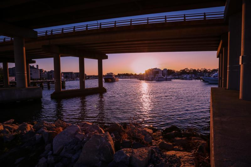 The Rudee Inlet at Sunset