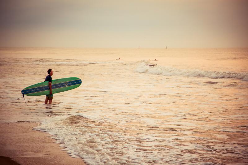 Morning Surf Session at Croatan Beach, south of the Virginia Beach Boardwalk