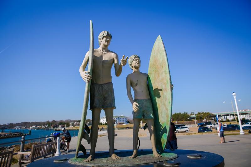 Anticipation Sculpture Grommet Island Park Virginia Beach