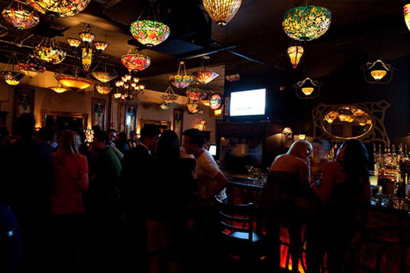 Interior of Nouveau Art Bar in Houston