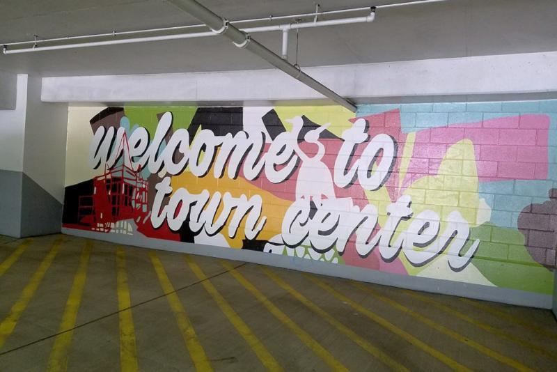 Town Center Garage Mural