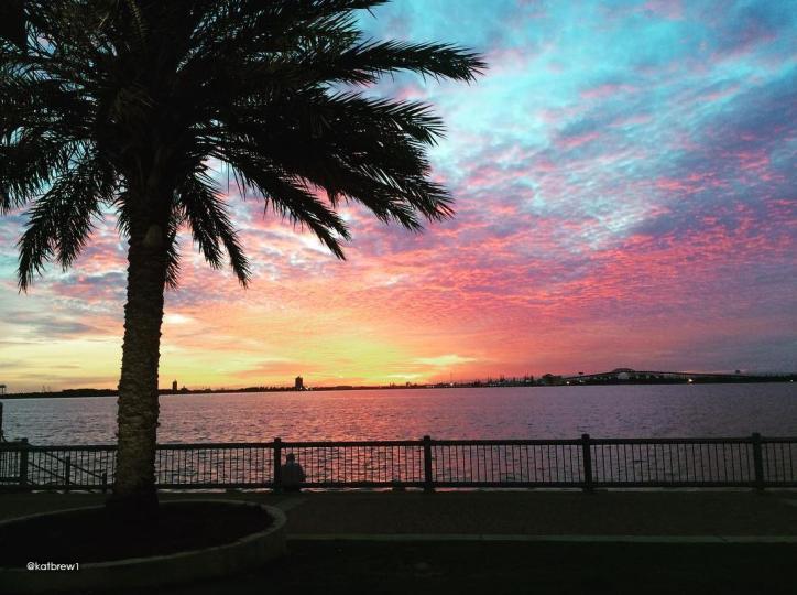 Lake Charles sunset by @katbrew1
