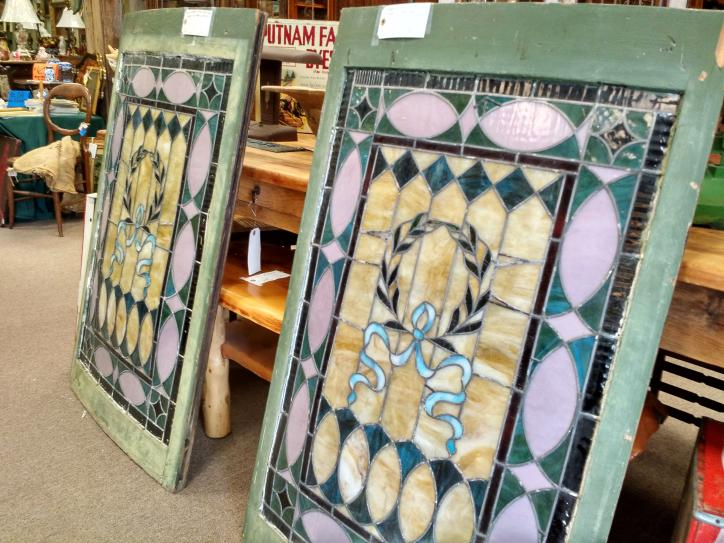 Stained Glass at Corner Gallery antique shop in Lake Charles.