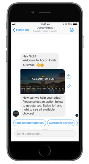 AccorHotels Australia launches Facebook Chatbot