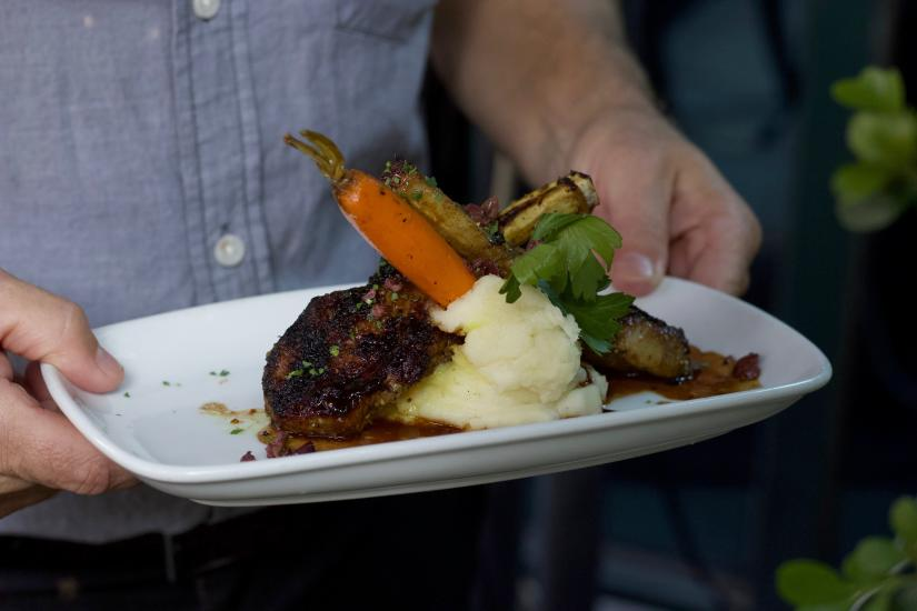 Lamb chops at Bistango in Irvine
