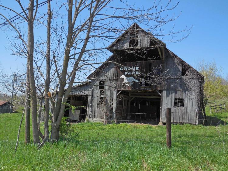 The Crone Farm barn on Bain Road.