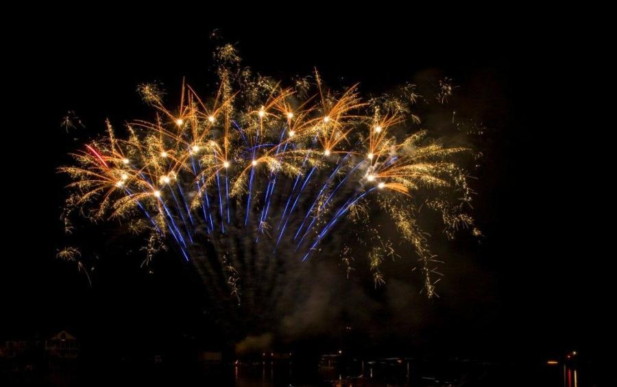 Fireworks over Lake Lure, NC